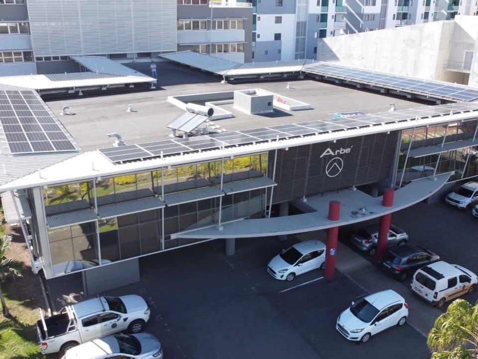 Installation solaire sur les bureaux Arbé